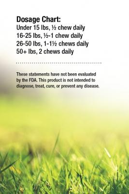 Hemp Dog Chews Suggested Use