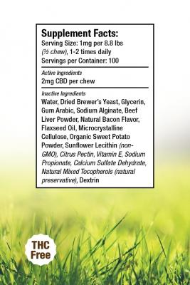 Hemp Dog Chews Supplement Facts
