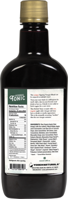 back label . herbal tonic